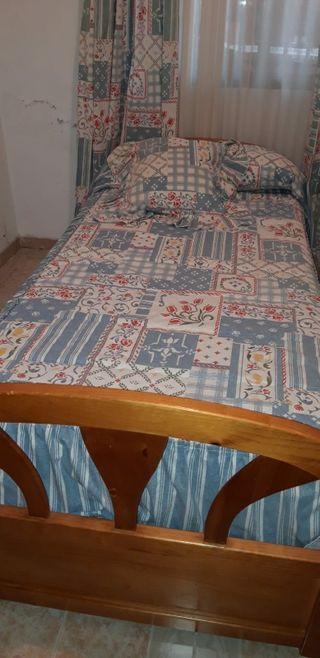 cama de 90 con dos colchones