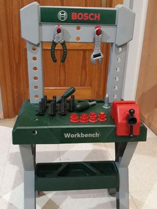 banco de trabajo de juguete y herramientas bosch