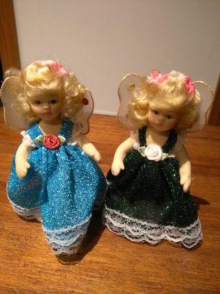 Dos muñecas porcelana
