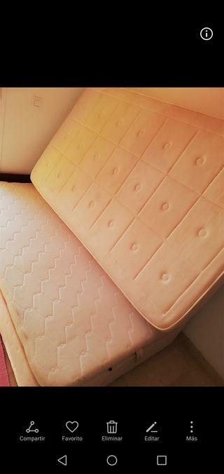 Cama canapé+colchón de 105 cm