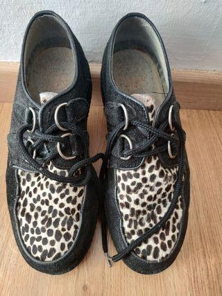 zapatos creepers leopardo
