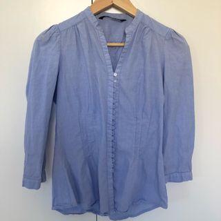 Camisa blusa azul