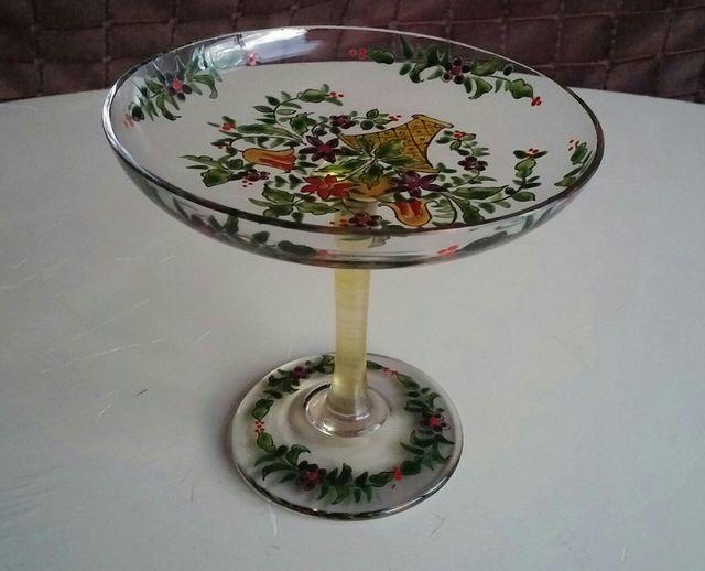 Copa cristal pintada a mano