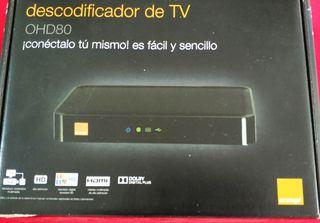 Descodificador Orange OHD80, mando, cables, todo