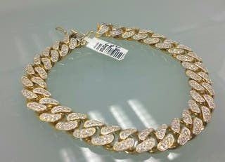 d8be7b76ddad Pulsera de oro macizo de segunda mano en Madrid en WALLAPOP