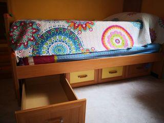 Conjunto cama nido con altillo