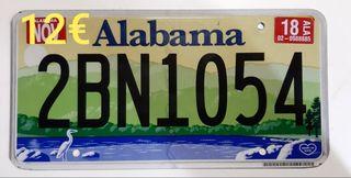 Alabama, Matriculas Americanas