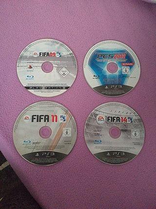 PACK 4 JUEGOS DE FUTBOL PS3