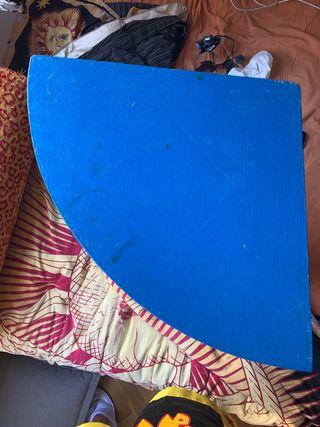Mueble/estantería esquinero azul