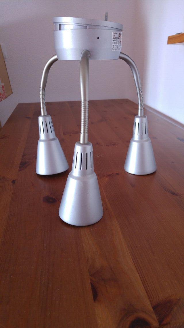 lámpara de techo con 3 focos