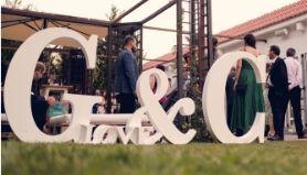 Letras corcho boda