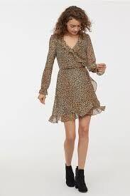 Vestido estampado leopardo hm hym talla 38