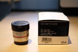 Objetivo Samyang 8mm f/2.8 Fisheye para FUJIFILM