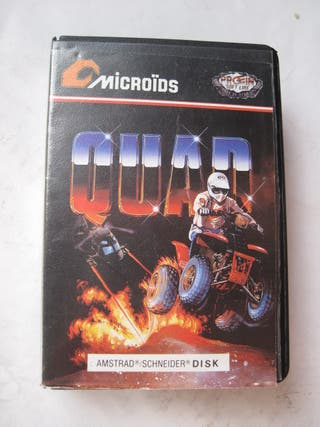 juego amstrad quad microïds disk disco carcasa