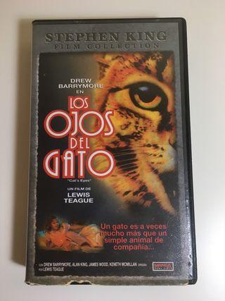 """Película VHS """"Los ojos del gato"""" Stephen King"""