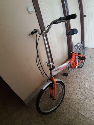 Bicicleta Plegable Monty Naranja