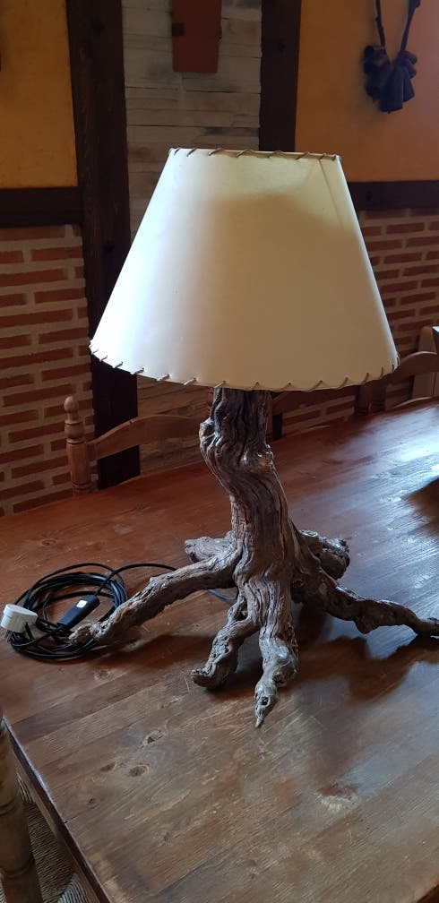 LAMPARA ARTESANA CEPA VID