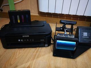 Plancha termica más impresora para sublimación