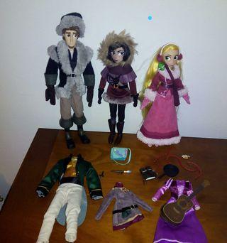 Lote o muñecas, disney, rapulzel, serie, enredados
