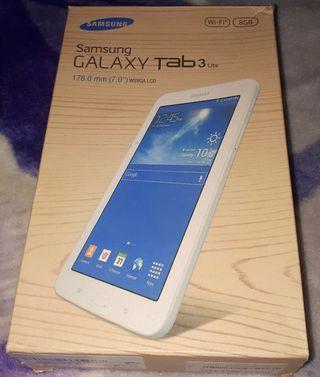 caja vacía de samsung galaxy tablet 3
