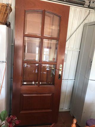 Puerta 82cm cocina o salón con marco