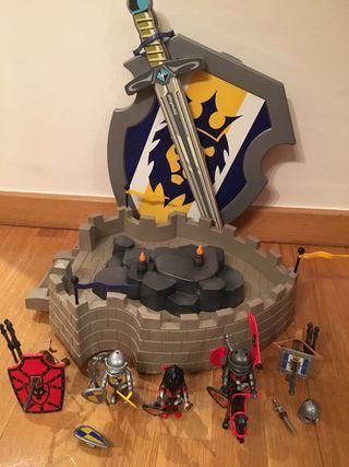 Escudo+ caballeros + armas playmobil