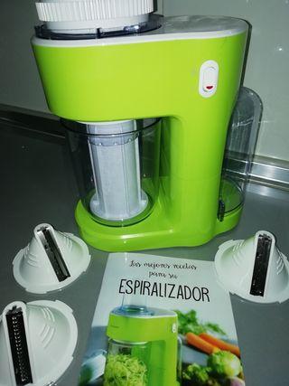 Cortador - espiralizador de verduras eléctrico