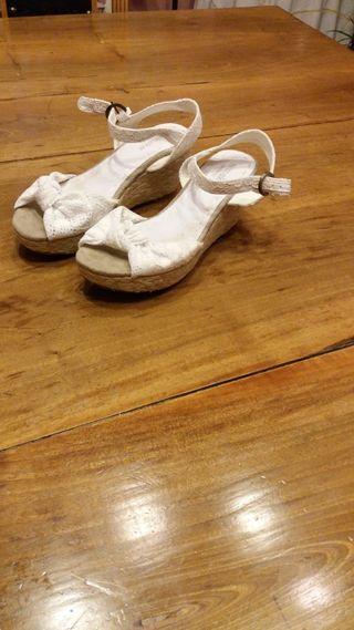 zapatos blancos boda numero 38
