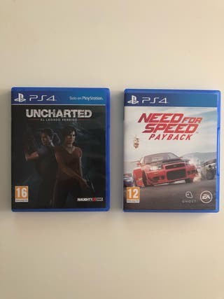 Juegos PS4, uncharted y Need for Speed