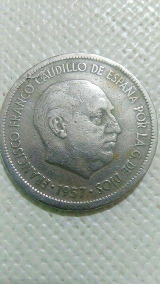moneda de 5 pesetas con error