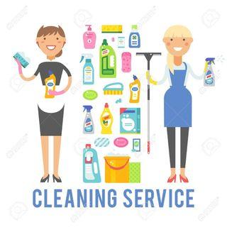 limpieza de pisos y cuidado de personas..etc