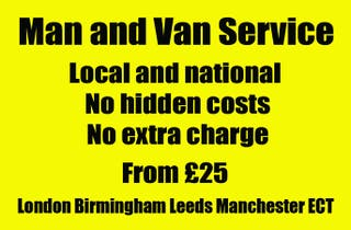 man and van service local and national no hidden