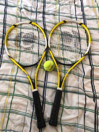 Raquetas tennis 2 ud