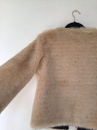 Pink fake shoe fur coat