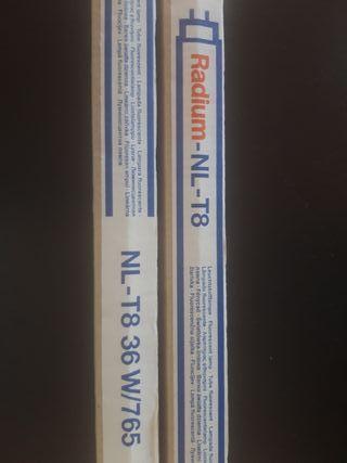 Dos bombilla fluorescentes