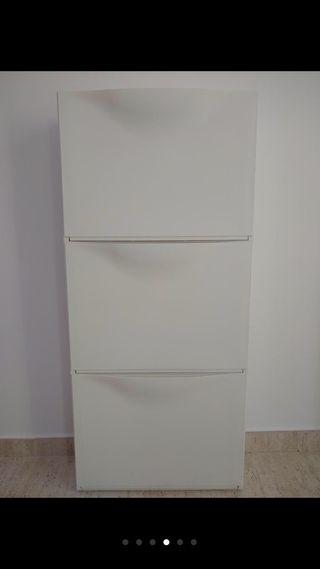 Zapatero plastico Trones Ikea 3 cajones