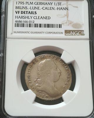 moneda del 1795 Germany NGC plata