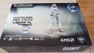 Grafica AMD HD 7970 VaporX 3gb en su caja