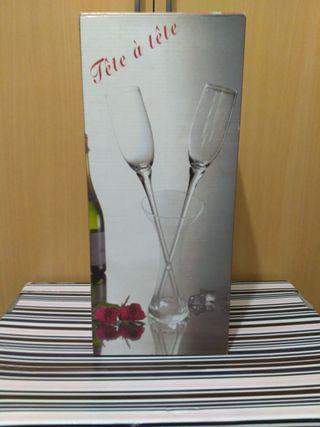 Copas de champagne para 2