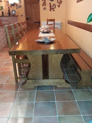 Mesa roble macizo