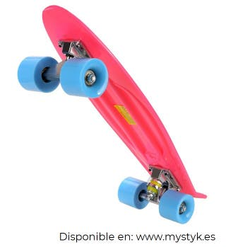 Skate penny board color rosa MYSTYK