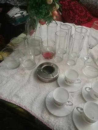 vasos copas tasas de cafe