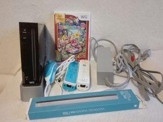 Wii con accesorios y juego
