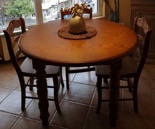 Conjunto mesa comedor + sillas