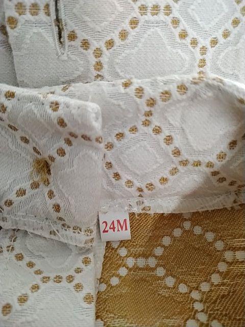 conjunto blanco y camel