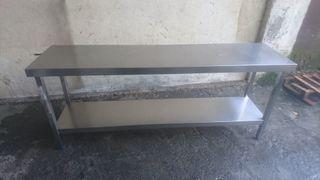 Mesa de trabajo de acero inoxidable 2000x500x850