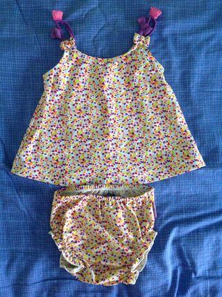 Conjunto para piscina (bañador) niña 9M
