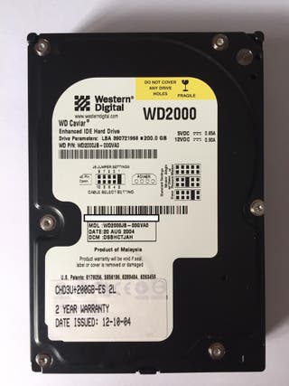 Disco 3.5 ide 200 GB WD
