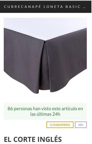 Cubre canapé loneta gris cama individual