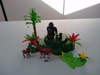 Playmobil selva. Gorilas y okapis